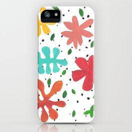 Tropical Leaves Two iPhone Case