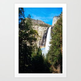 Rainbow Beneath Bridal Veil Falls Art Print