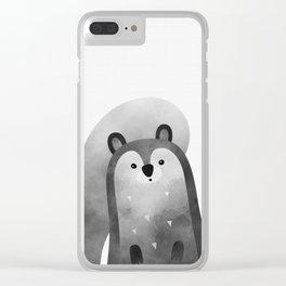 Squirrel Print Clear iPhone Case
