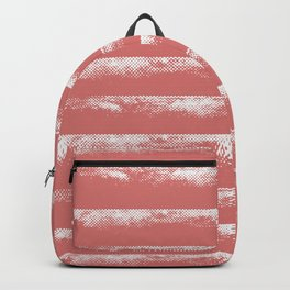 Irregular Stripes Coral Backpack