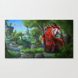 Parrot Dragon Canvas Print