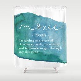 Moxie Definition - Blue Watercolor Shower Curtain