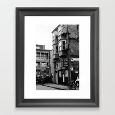 crowded street Framed Art Print