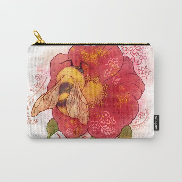 Pollinator Animals- Bumble Bee Carry-All Pouch