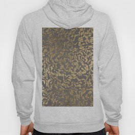 Faux gold foil abstract geometric on grey concrete cement Hoody