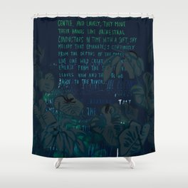 """""""Conquest of the Useless"""" by Werner Herzog Print (v. 8) Shower Curtain"""