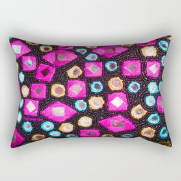 Pink beaded jewels for the fashionista's! Rectangular Pillow