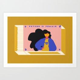 Future is Female Art Print