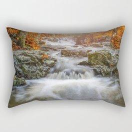 autumn landscape waterfall mountain river yellow leaves autumn mountains Rectangular Pillow