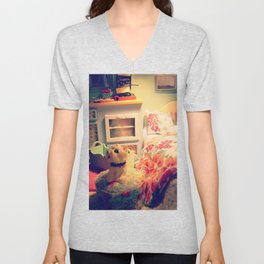 cream dollhouse Unisex V-Neck