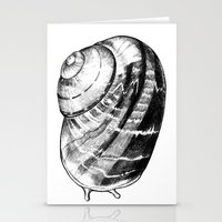 snail Stationery Cards featuring Snail by MARIA BOZINA - PRINT