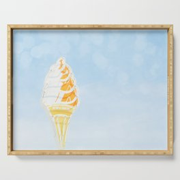 Vintage Ice Cream Sign Serving Tray