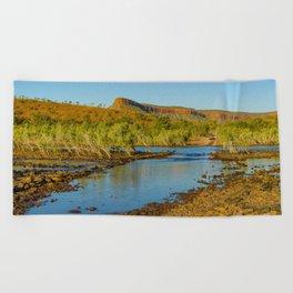 Pentecost River Crossing Beach Towel