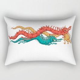 3 Dragons Rectangular Pillow