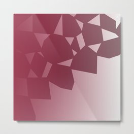 design blocks, cute  Red Metal Print