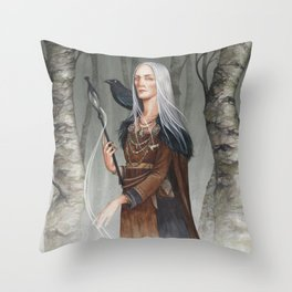 Volva ~ A Compendium of Witches Throw Pillow