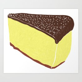 Yellow Cheesecake with Chocolate Frosting Art Print