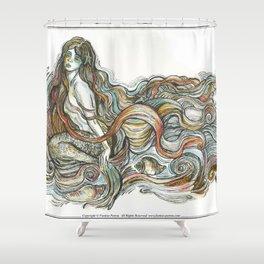 """Little Mermaid"" - by Fanitsa Petrou Shower Curtain"