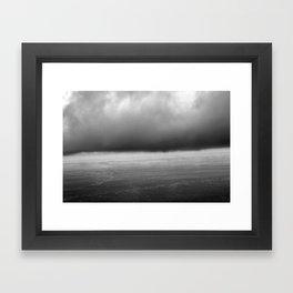 grey skies Framed Art Print