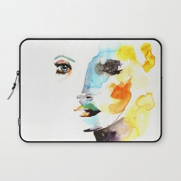 WATERCOLOR FACE Laptop Sleeve
