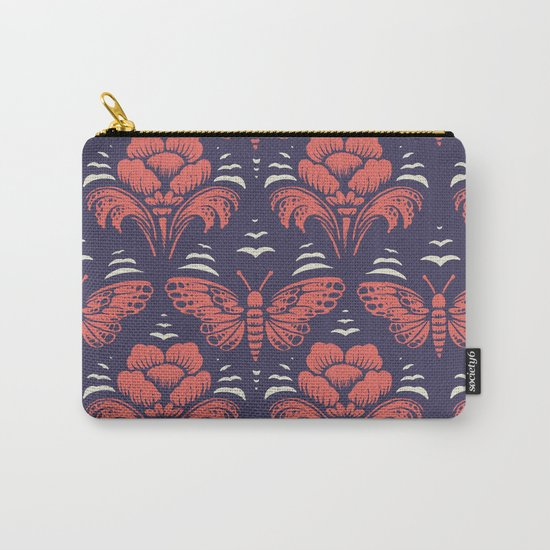 butterfly damask (stark) Carry-All Pouch