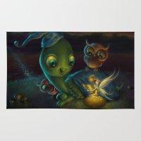 fairy tale Area & Throw Rugs featuring Fairy Tale by Alicia Templin