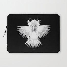 Strange Hummingbird 1.White on black background. Laptop Sleeve