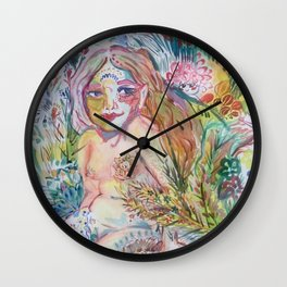 Lonely Little Petunia in an Onion Patch Wall Clock