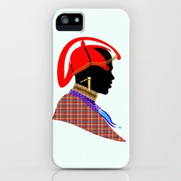 massai warrior kenya africa graphic art iPhone Case