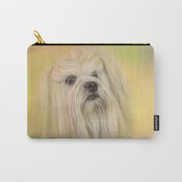 Spring Lhasa Apso Carry-All Pouch