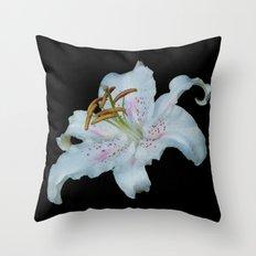 Stargazer Lily Throw Pillow