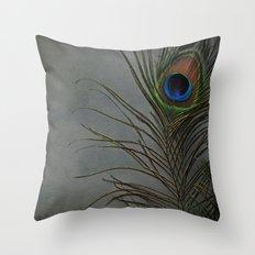 Peacock Morning Throw Pillow