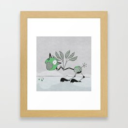 Very Green Schrieky Framed Art Print