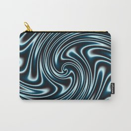 Blue and Black Licorice Ribbon Candy Fractal Carry-All Pouch