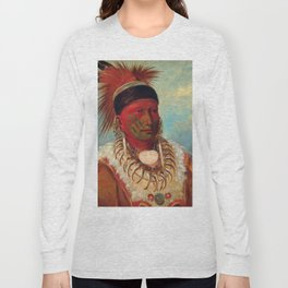 The White Cloud, Head Chief of the Iowas by George Catlin Long Sleeve T-shirt