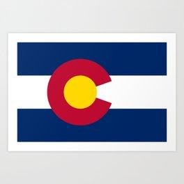 Colorado Flag Art Print