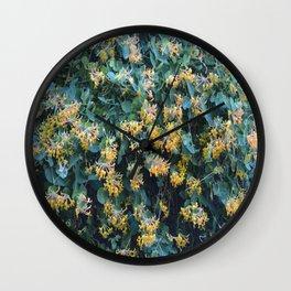 Honeysuckle Flowers – Golden Showers Wall Clock