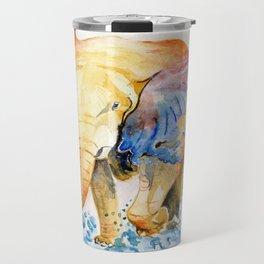 Baby Elephant Watercolor Travel Mug