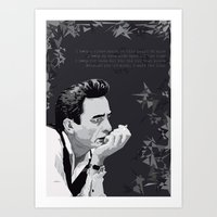 johnny cash Art Prints featuring Johnny Cash by Iany Trisuzzi