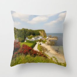 The Little Port Throw Pillow