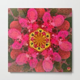 Multicolor Geometric Mandala Print Design Metal Print
