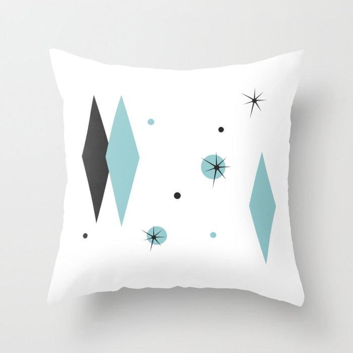 Vintage 1950s Mid Century Modern Design Throw Pillow