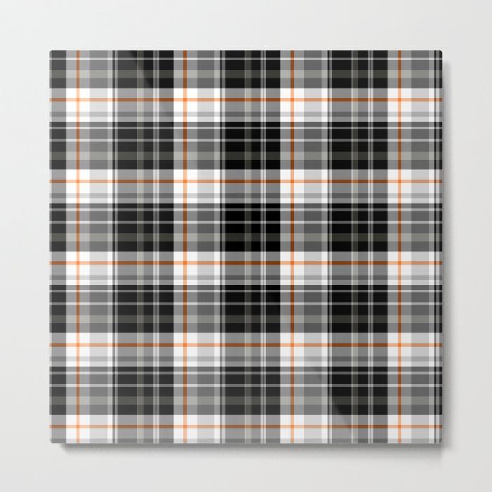 Grey Tartan Metal Print
