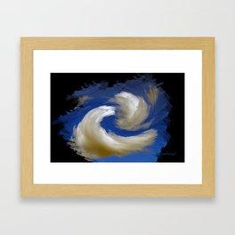 """Restless Love Clouds"" Framed Art Print"