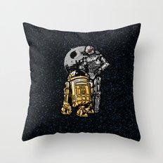 Daft Droids Throw Pillow
