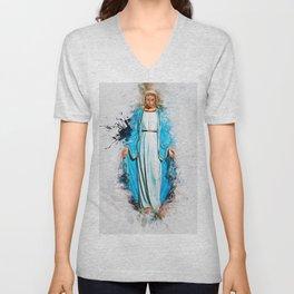 The Virgin Mary Unisex V-Neck