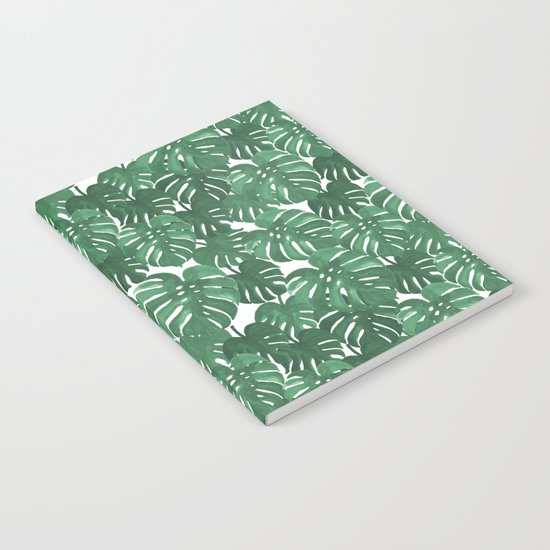 Monstera house plant leaf green painting pattern trendy hipster indoor house plant tropical garden   Notebook