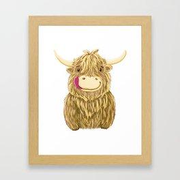 Wee Hamish Highland Cow Framed Art Print