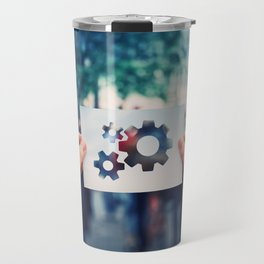 holding gear symbol Travel Mug