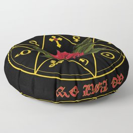 As Above So Below, Alchemy, Rose Cross Floor Pillow
